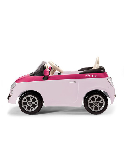 voiture electrique fiat 500 pink peg perego king jouet. Black Bedroom Furniture Sets. Home Design Ideas