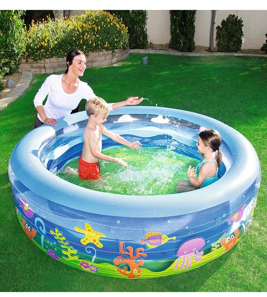 piscine transparente vague d t bestway king jouet. Black Bedroom Furniture Sets. Home Design Ideas