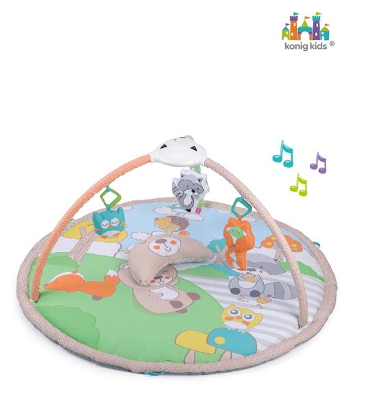 tapis d eveil avec musique et projecteur konig kids